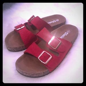 Red Weboo sandals